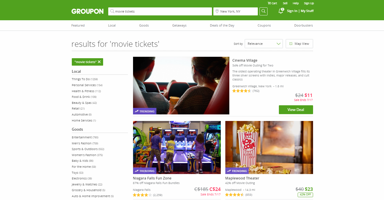 Groupon Affiliate Program for Movies