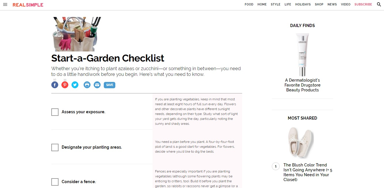 Make Money with Checklists -- Example