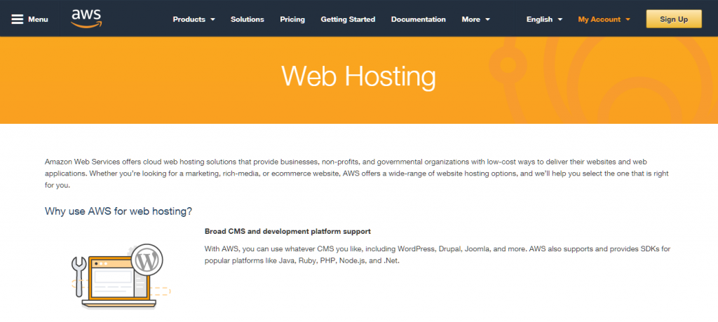 Amazon Web Services Hosting