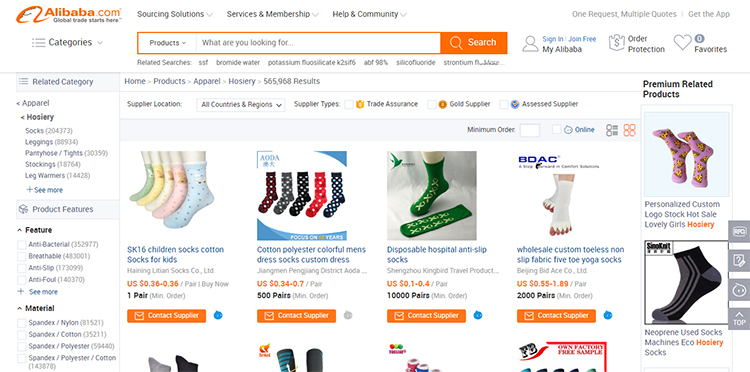 Using Alibaba to find a niche