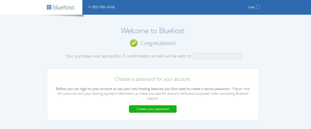 Bluehost Confirmation