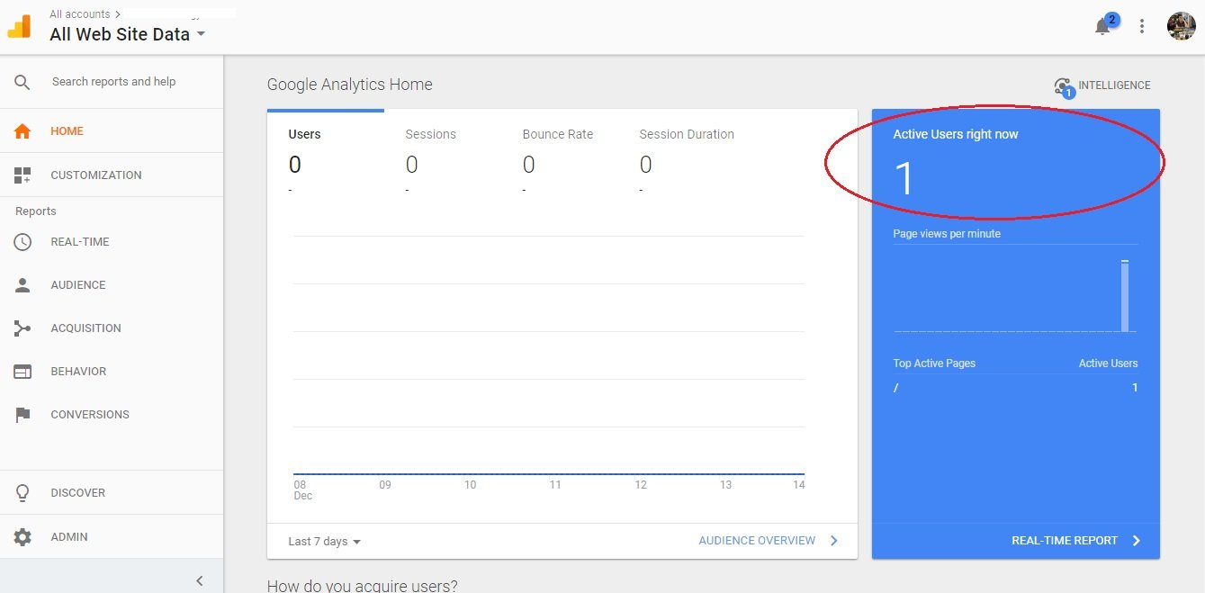 Confirming Google Analytics