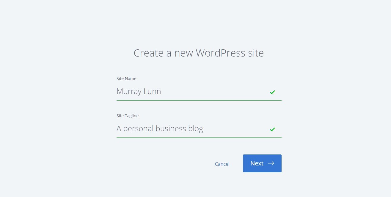 Creating a WordPress Site on Bluehost