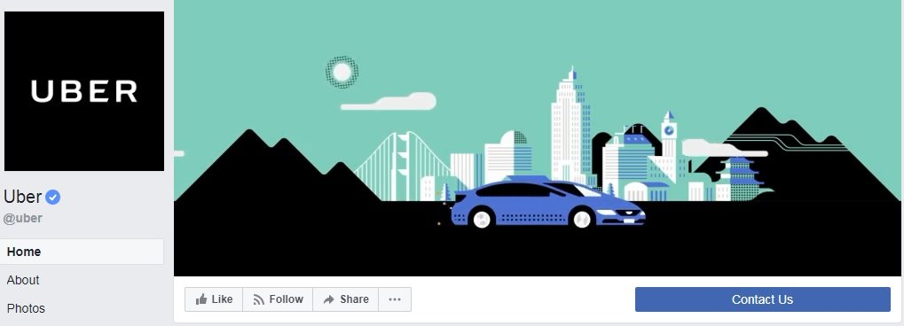 Facebook Cover Photo on Uber Page