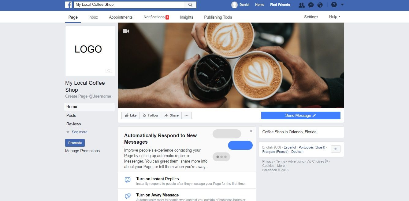 Finished Facebook Business Page