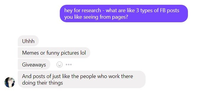 Ask Facebook users what they want to see