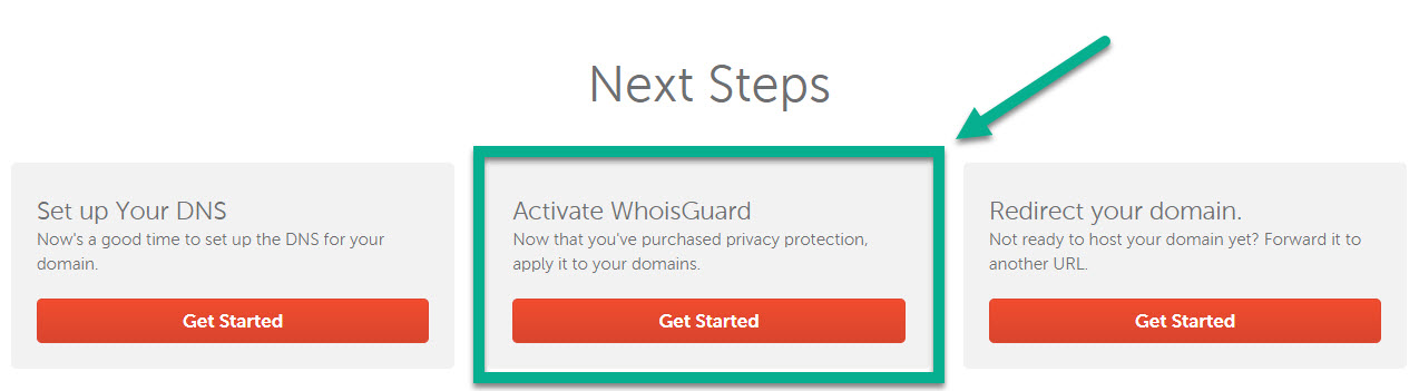 Start Activating WhoIs Guard